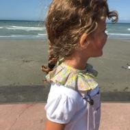 Profiter de la plage jusqu'au bout! Col amovible en Liberty  #bymesange #col #colamovible #faitmain