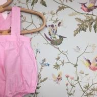 Vive le soleil! Jolie barboteuse rose et béguin fleurie. @by_mesange  @barboteuse @beguin @faitmain @faitavecamour