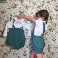 Joli duo salopette pour les grandes et barboteuse pour les bébés! Et col volante bordé de dentelle. #bymesange #doublegaze  #colvolanté  #dentelle #commandespeciale  #merci
