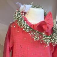 Mettre de la couleur dans sa vie! Robe sorbet à la fraise  #bymesange #faitmain